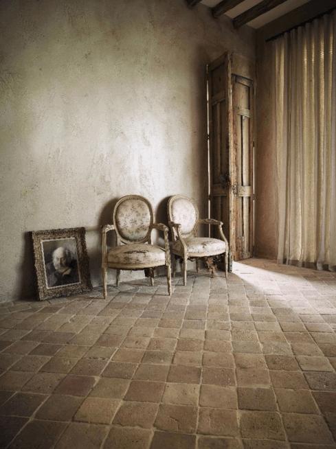 A genuine Antique Terracotta floor from Lapicida
