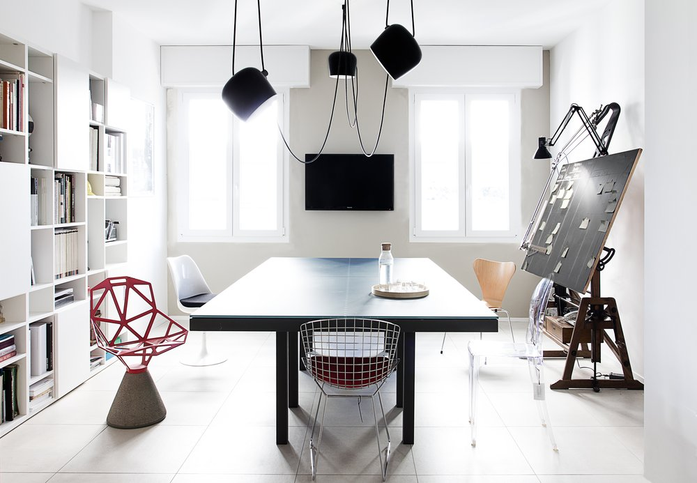 Studio Tenca & Associati offices in Milan. Tiles by Marazzi.