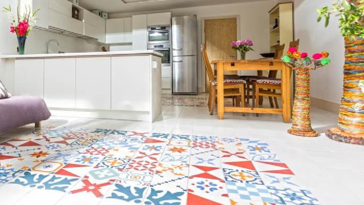 Bespoke encaustic kitchen tiles by Alhambra