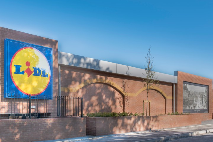 Tile Fire's mural adorns the new Lidl supermarket in Halstead, Essex