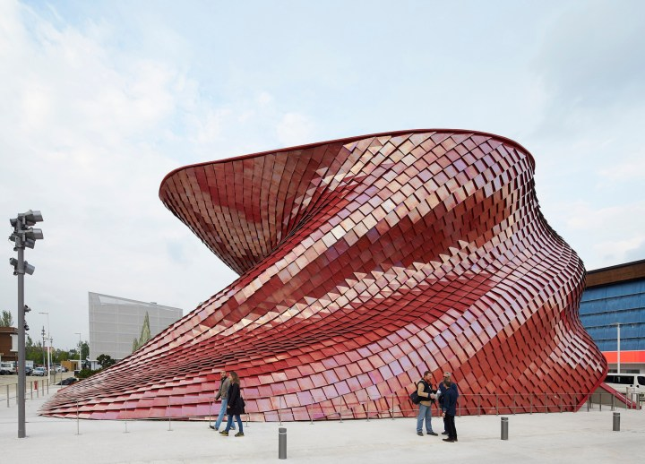 Vanke Pavilion by Studio Libeskind. Tiles by Casalgrande Padana.