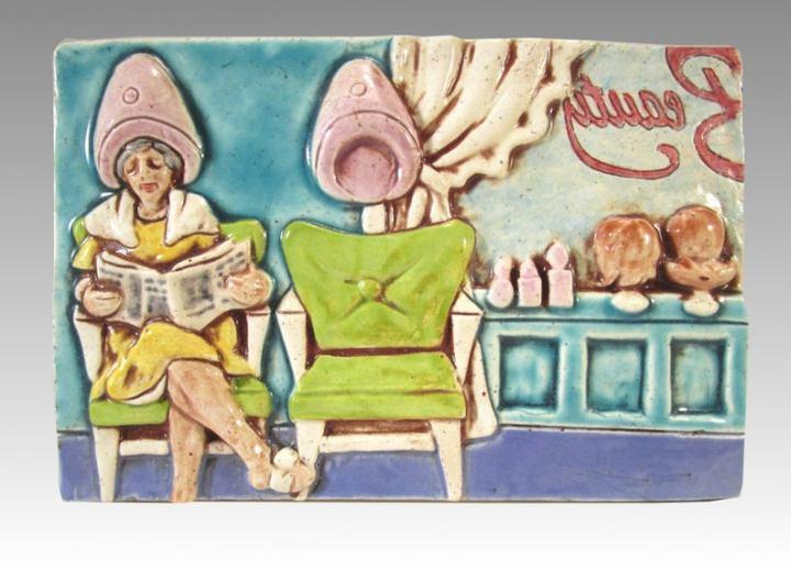 Greg Hicho ceramic retro tile art pop art
