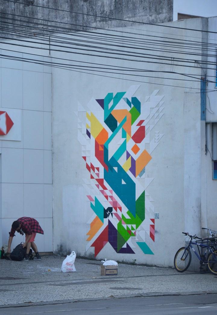 public art brazilian ceramic street art MUDA installation 2015