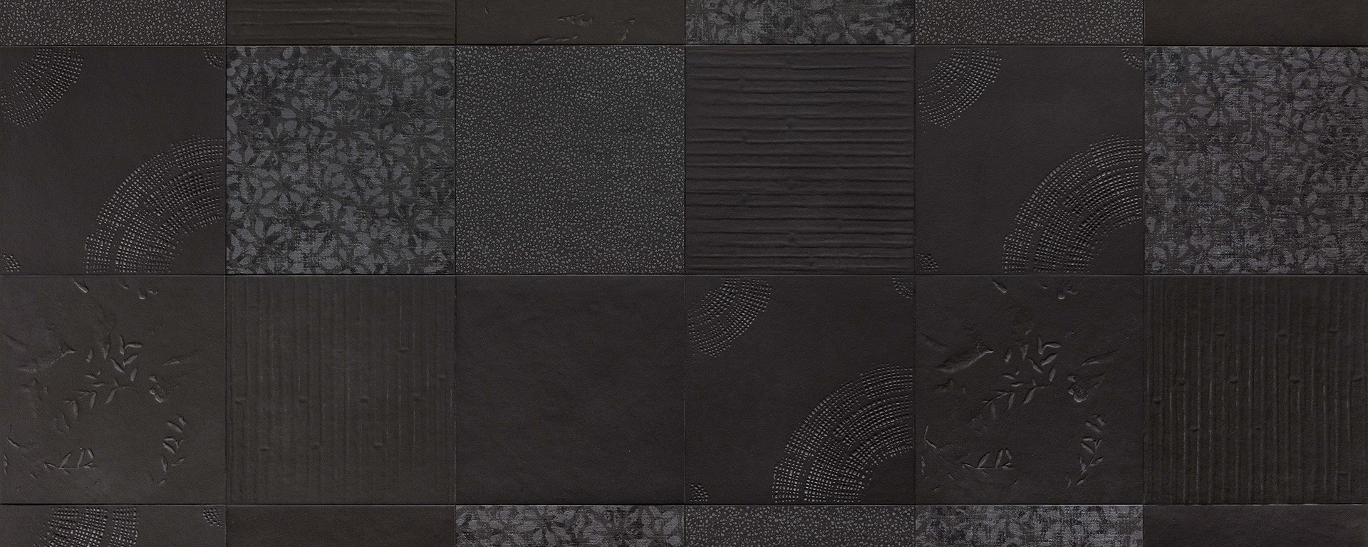 Mutina Chymia black and white tile range cersaie 2019