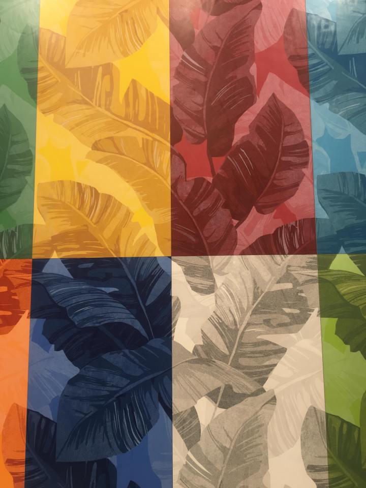 Paul Ceramiche Cersaie colourful jungle print