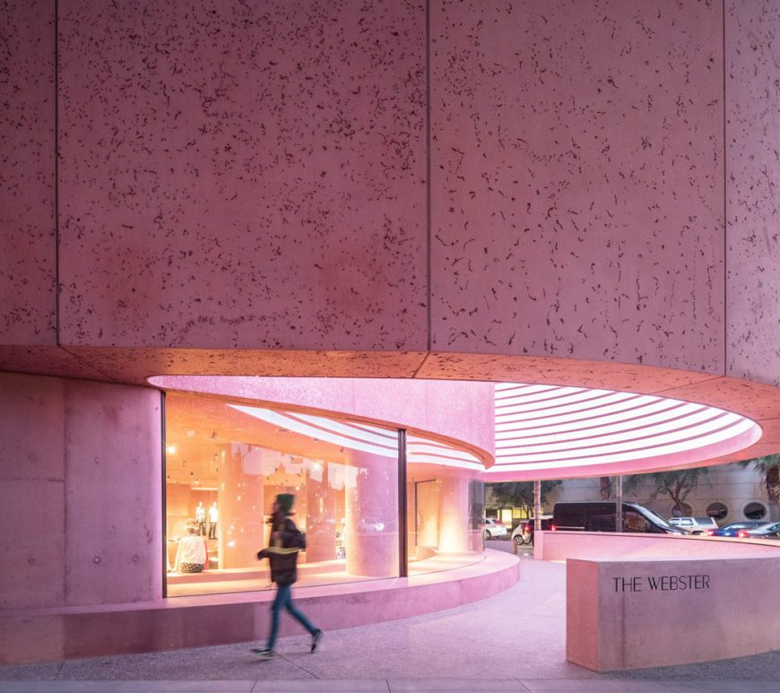 pink concrete The Webster california architecture David Adjaye