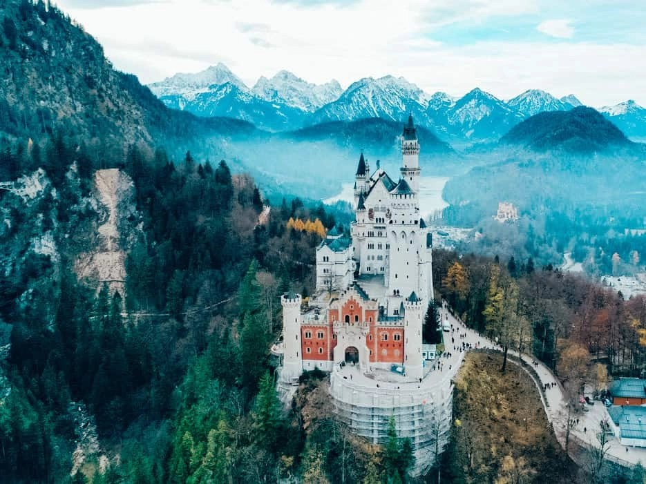 Neuschwanstein Castle Drone Photo