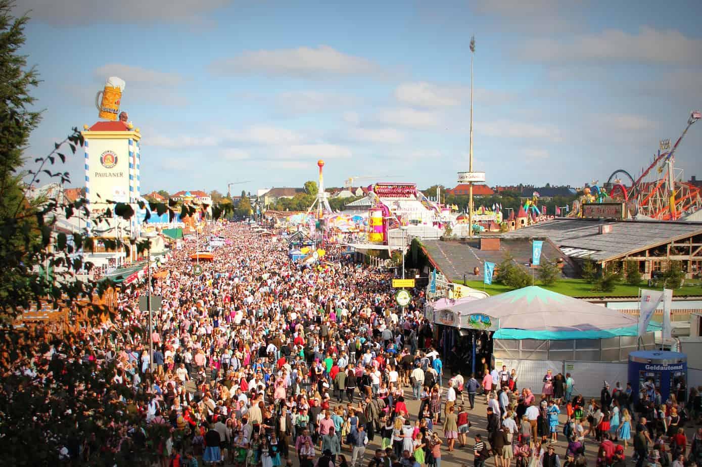 Arial view of Oktoberfest