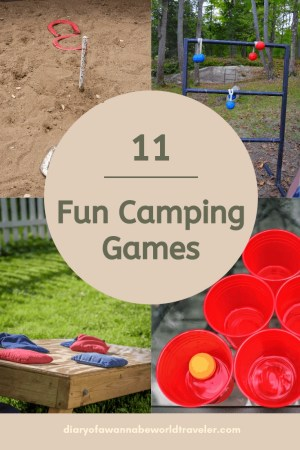 fun camping games pin