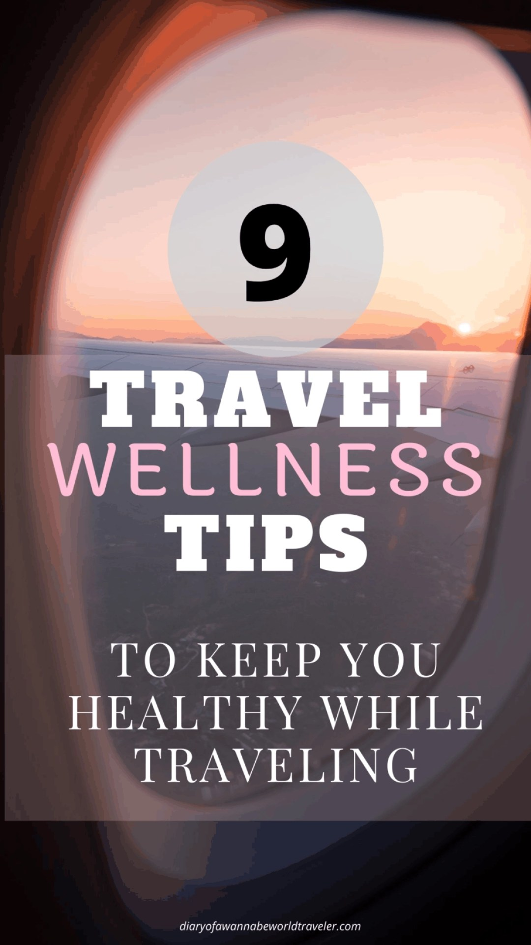 Travel wellness tips pin