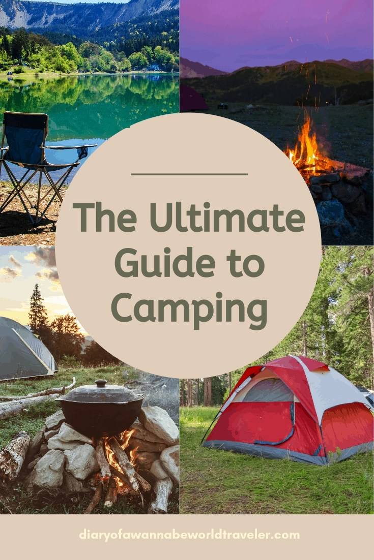 guide to camping pin