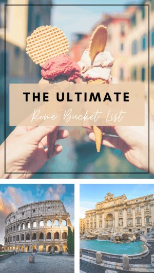 The Rome Bucket List Pin