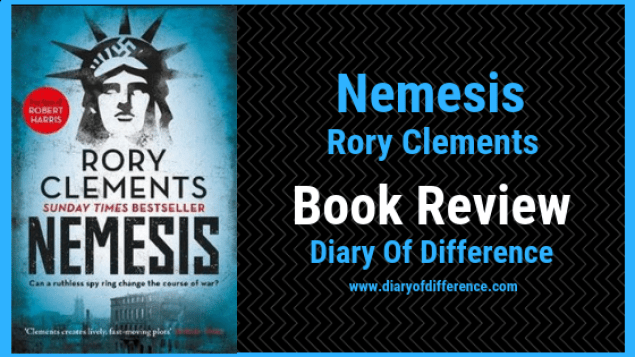 nemesis rory clements book blog books book review diary of difference diaryofdifference tom wilde world war two spain england history