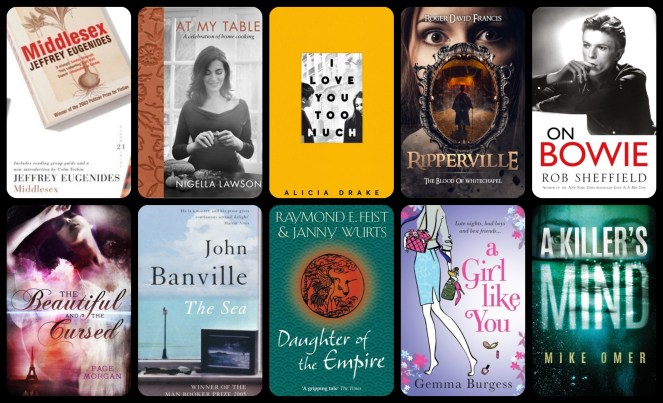 down the tbr hole romance book blog goodreads netgalley love diary of difference diaryofdifference mike omer daughter of the empire the sea john banville nigella lawson i love you too much alicia drake ripperville david bowie