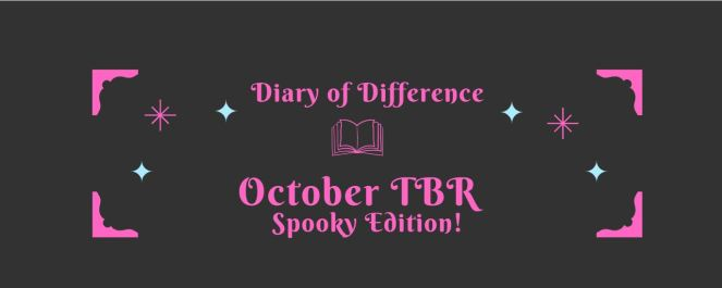 diary of difference october tbr list book books reading diaryofdifference bookshelf monthly read currently reading