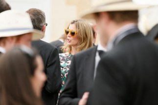 Blonde lady at wedding in France