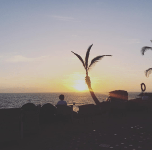 Sunset at Jardin Tropical in Tenerife - What to pack for a sun holiday in your third trimester!