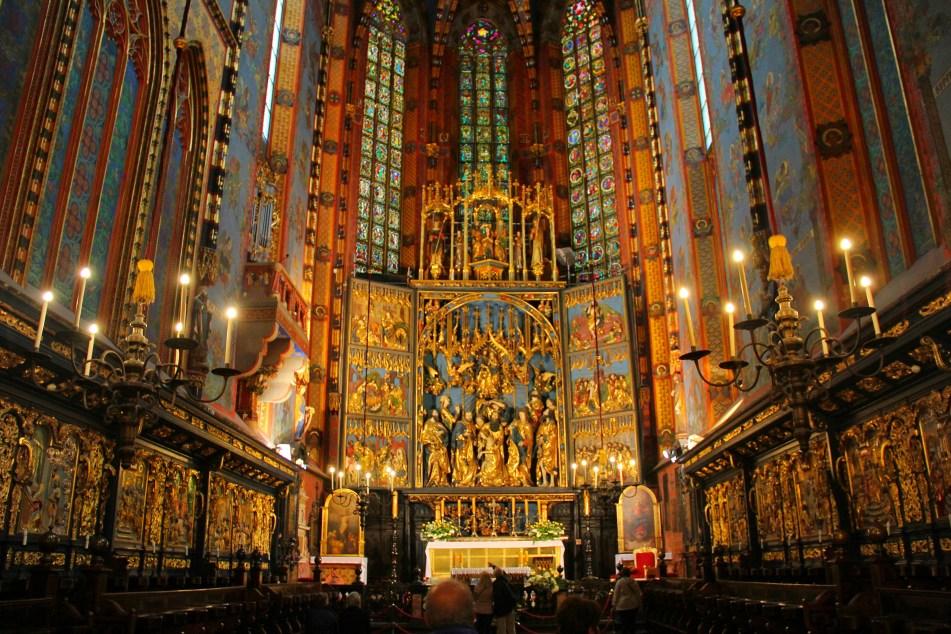 Altarpiece St Mary Basilica Krakow