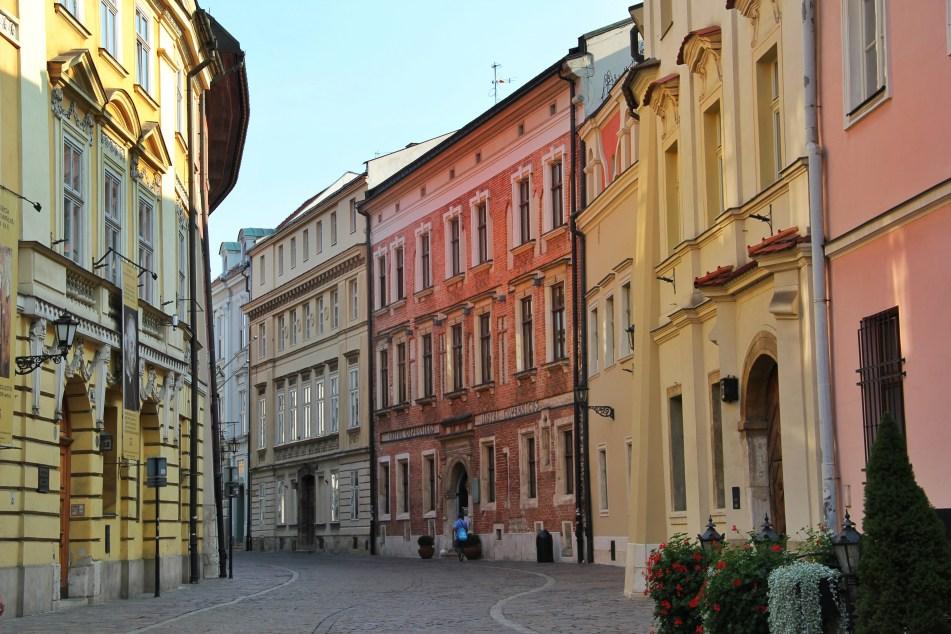 Krakow old town medieval street