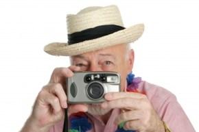 Erinnerungen Mann mit Kamera