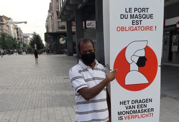 Covid19: Des masques et gels désinfectants offert par Monsieur  Cellou Satina Diallo, conseiller communal à la ville de Bruxelles