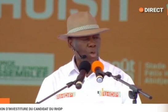 Côte d'Ivoire/Convention RHDP : Outtara investit candidat aux présidentielles de 2020