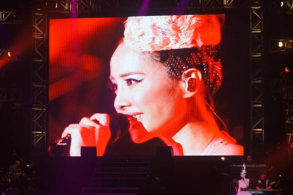 Jolin Tsai in concert in London.