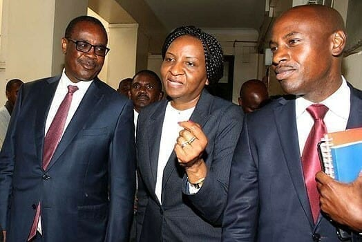 Nairobi Governor Evans Kidero (left) with his Director of Communications Walter Mongare (right). PHOTO | FILE