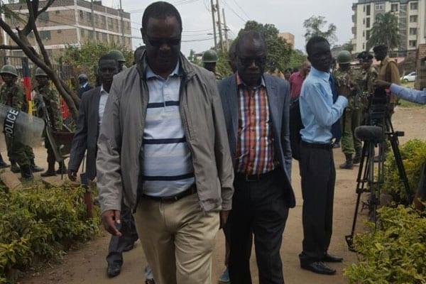 Nairobi Governor Evans Kidero arrives at
