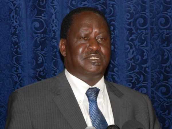 Cord leader Raila Odinga
