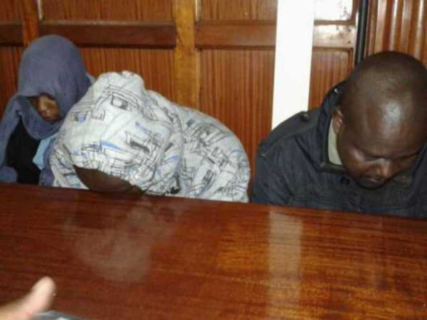 The three officers involved in the death of lawyer Willie Kimani arraigned in Milimani Law courts.Photo/CAROL MAINA