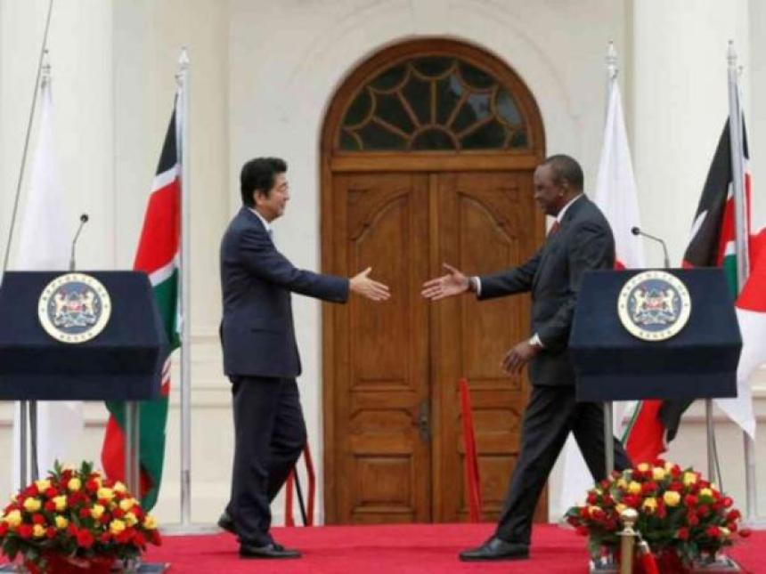 Abe with Uhuru