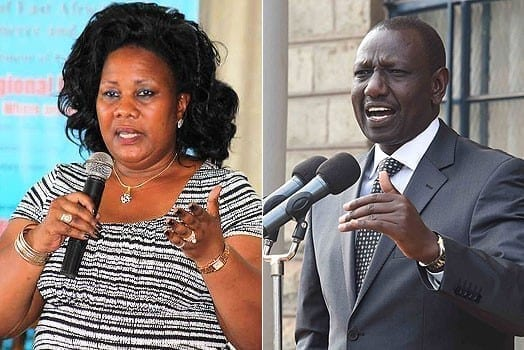 LEFT: Busia Women Representative Florence Mutua. RIGHT: Deputy President William Ruto. PHOTOS | FILE