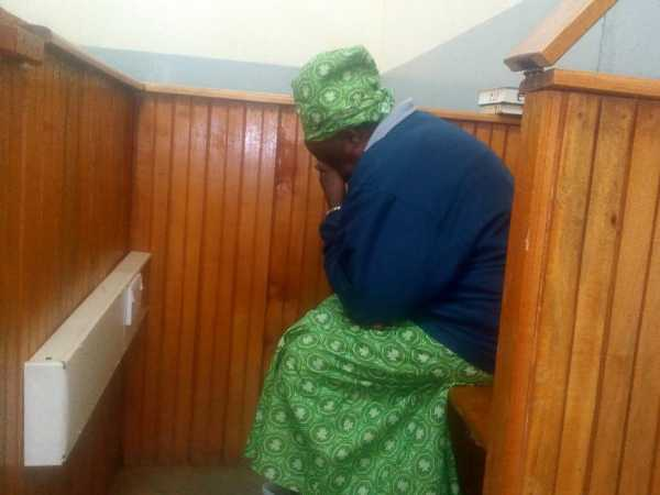Politician Jackson Kibor's wife Josephine breaks down in the dock during the hearing of her divorce case on Tuesday Photo/Mathews Ndanyi