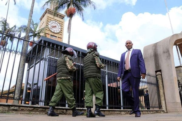 Security was stepped up around Parliament