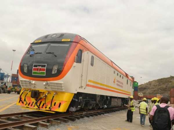 Some of the SGR passenger locomotives at the port that have been received into the country. /JOHN CHESOLI