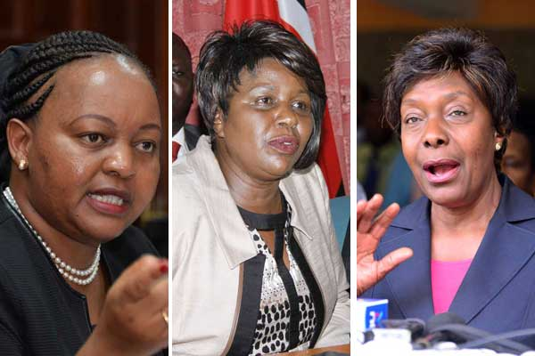 From left: Anne Waiguru (Jubilee, Kirinyaga),