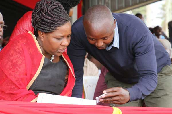 Bomet governor-elect Joyce Laboso consults with