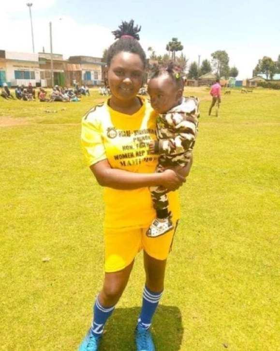 Kenyan footballer Winnie Wangui Kamau behind viral breastfeeding photo