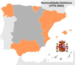 Entre 1978 y 2006 estas regiones hicieron constar en sus estatutos de autonomía que eran nacionalidades históricas