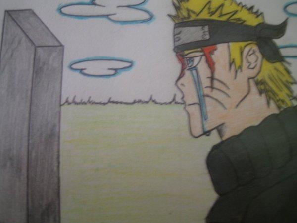 NAruto llorando por la muerte de jiraiya por catarot