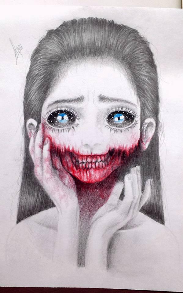 Ver más ideas sobre dibujos, dibujar arte, dibujos terroríficos. Gore Girl por Adonay   Dibujando