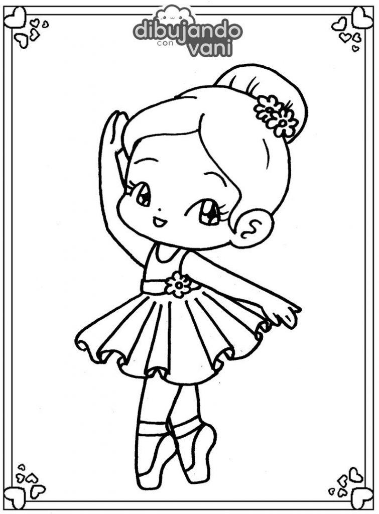 Unicórnio para colorir pode ser uma ótima forma de passatempo tanto para crianças quanto para adultos. Dibujo de una bailarina para imprimir y colorear