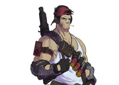 Diseño de personaje: Soldado mercenario