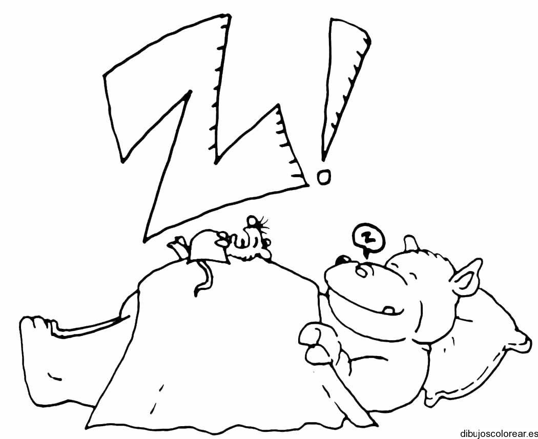 Dibujo De La Letra Z Con Un Hipopotamo