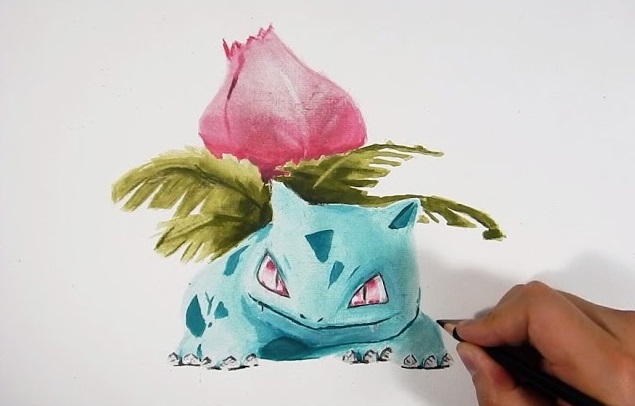 Como Dibujar A Ivysaur Pokemon Go 3d How To Draw Ivysaur 3d