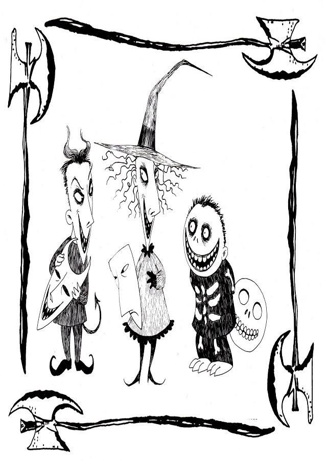 Dibujos Para Colorear Pesadilla Antes De Navidad Dibujos