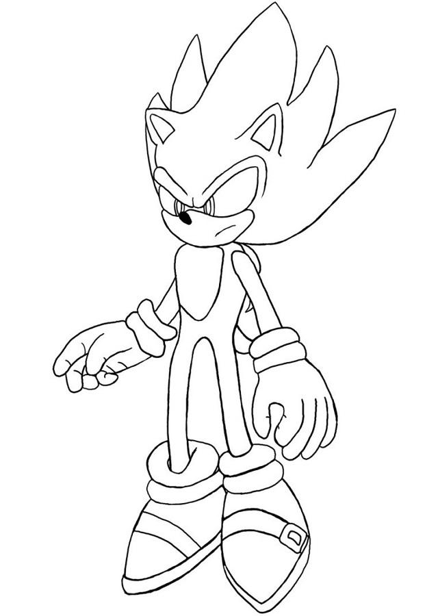 Dibujos De Sonic Para Colorear Faciles Find Gallery