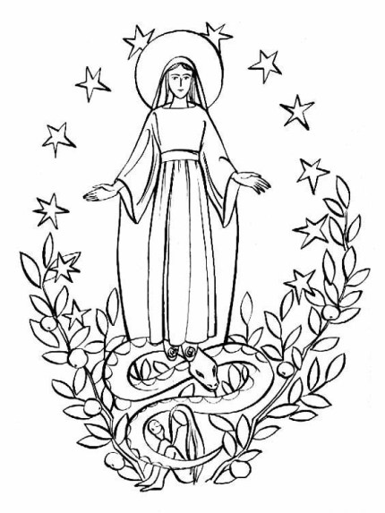 Dibujos Para Colorear De La Virgen De La Inmaculada