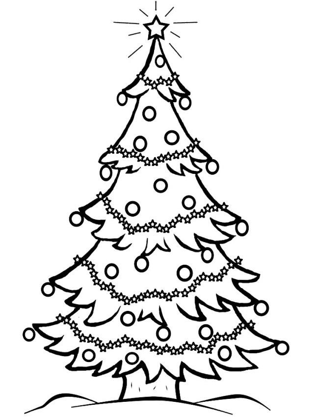 Dibujos de árboles de navidad para pintar